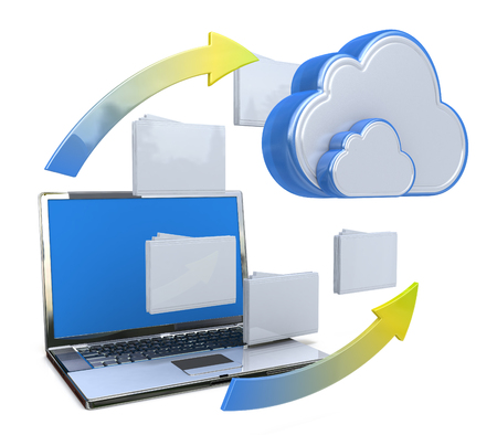 Photo pour Transferring information or data to a cloud network server in the design of the information related to the transfer of data - image libre de droit