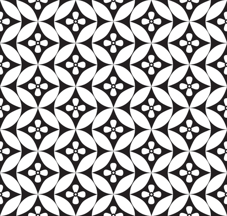 Illustration pour Abstract geometric seamless ornamental pattern  White and black background   - image libre de droit