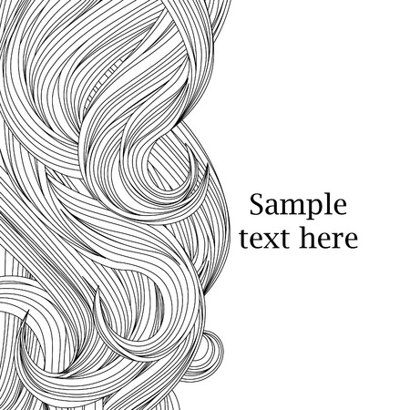 Illustration for Hair outlined background - Royalty Free Image