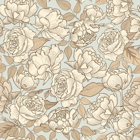 Illustration pour Floral seamless background. Decorative flower pattern. Floral seamless texture with flowers. - image libre de droit