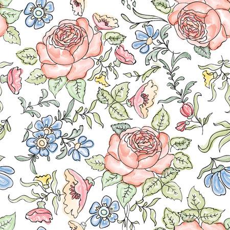 Illustration pour Floral seamless background. Flower pattern. - image libre de droit