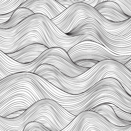 Ilustración de Wave pattern. Geometric texture. Abstract background. - Imagen libre de derechos