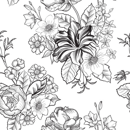 Illustration pour Floral seamless background - image libre de droit