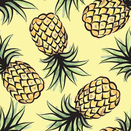 Illustration pour Pieappler seamless tropical pattern. Jungle textured background - image libre de droit