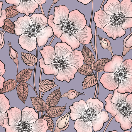Illustration for Floral seamless pattern. Flower background. Floral seamless texture with flowers. - Royalty Free Image