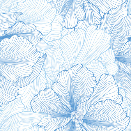 Ilustración de Floral seamless background. Vector pattern with beautiful peony flower. Gentle flourish background with pastel colors. Seamless patterns can be used in textile design, postcards, calendars, websites, wallpapers - Imagen libre de derechos