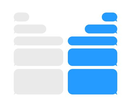 Ilustración de Message chat bubbles vector icons for messenger. Template for message chat. Vector illustration - Imagen libre de derechos