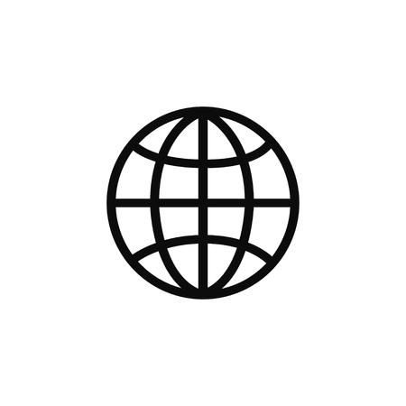 Illustration pour Globe related outline icons. Web apps. Thin line vector icons for website design and development, app development. Vector illustration - image libre de droit