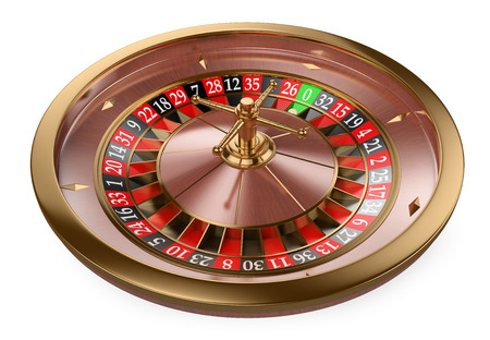 Foto de 3d white people. 3D Casino roulette. Isolated white background. - Imagen libre de derechos