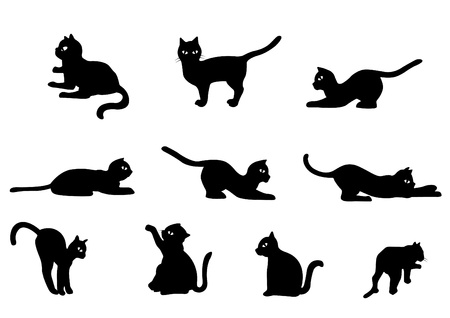 Collection of Cat Cute Black Cat Illustration