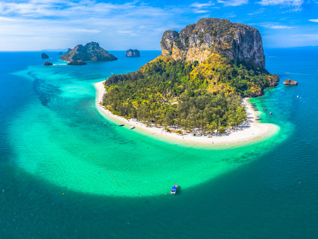 Photo for aerial photography Koh Poda is one the most popular islands in Krabi archipelago. - Royalty Free Image