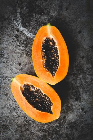 Photo for Papaya fruit slices - Royalty Free Image