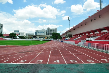 Athlete track in the stadium, Bangkok.