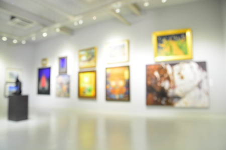 Photo for Blur or Defocus image of the lobby of a modern art center as background with bokeh - Royalty Free Image