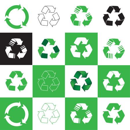 Ilustración de Collection of recycle icon. vector illustration - Imagen libre de derechos