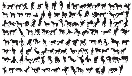 Illustration pour Horse Silhouette Collection.134 character EPS 10. - image libre de droit