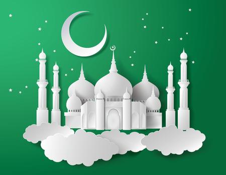 Foto für Vector of Paper Mosque. Translation: Ramadan Kareem - Lizenzfreies Bild
