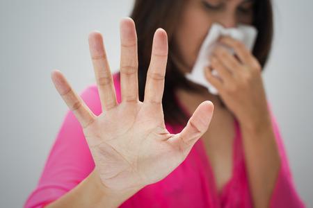Foto de Flu cold or allergy symptom - Imagen libre de derechos