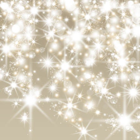 Foto de Abstract holiday background with clusters of bright huge white twinkling stars - Imagen libre de derechos