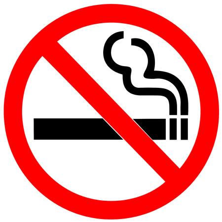 Illustration pour No smoking sign on white background - image libre de droit