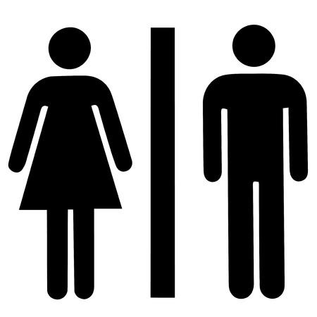 Illustration pour Man & Woman restroom sign - image libre de droit