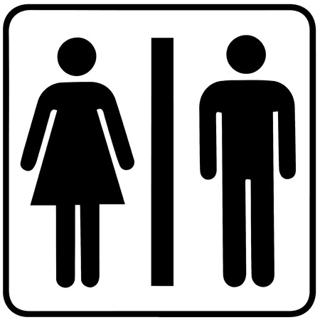 Illustrazione per Man & Woman restroom sign - Immagini Royalty Free