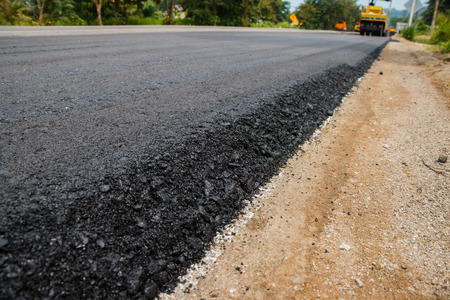 Photo for Close-up asphalt at the road under construction. - Royalty Free Image