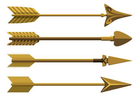 Ilustración de Set of decorative arrows.  - Imagen libre de derechos