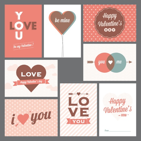 8 elegant and trendy happy valentine's day and weeding cards