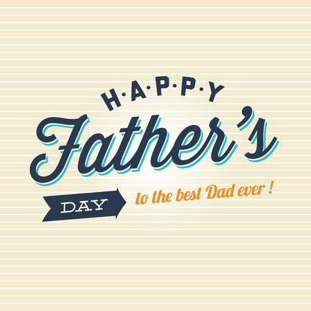 Illustration pour Fathers day card badge signs and symbol - image libre de droit