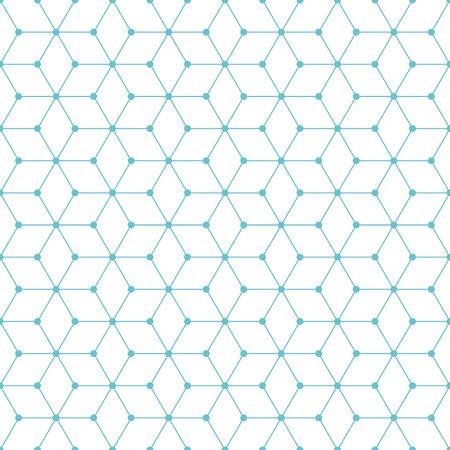Illustration pour Cube and dot pattern background. Vintage retro vector design element. - image libre de droit