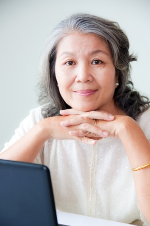 Photo for happy senior asian woman  - Royalty Free Image