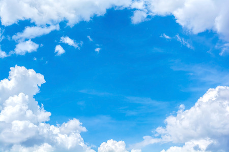 Photo for abstract white cloud on the blue sky - Royalty Free Image