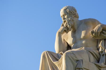 Foto de Greek philosopher Socrates in front of the National Academy of Athens - Imagen libre de derechos