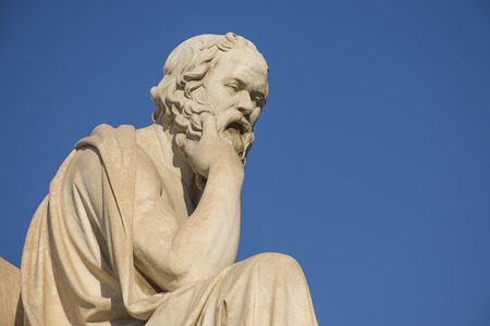 Photo for Greek philosopher Socrates in front of the National Academy of Athens - Royalty Free Image