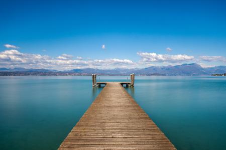 Photo pour A beautiful morning over the Lake Garda, Italy - image libre de droit