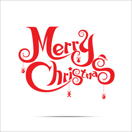 Ilustración de Merry Christmas text free hand design isolated on white background - Imagen libre de derechos