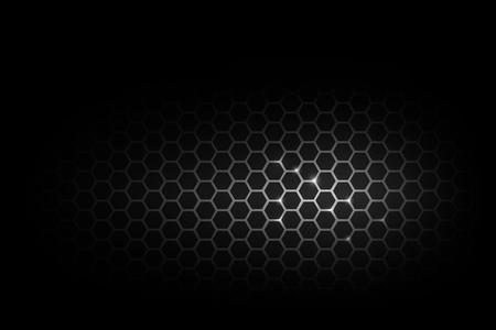 Illustration pour Dark and black with metal honeycomb pattern vector illustration eps 10 - image libre de droit