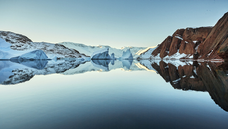 Photo for iceberg floating in greenland fjord. - Royalty Free Image