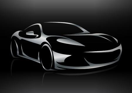 Concept Sportscar Vehicle Silhouette 02
