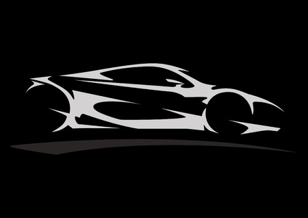 Concept Sportscar Vehicle Silhouette 05