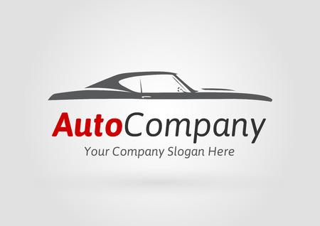 Ilustración de Auto Company Design Concept with classic American style sports Car Silhouette. Vector illustration. - Imagen libre de derechos