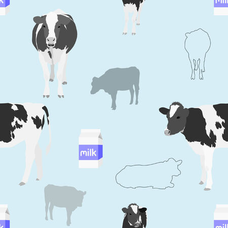 Seamless Cow Background