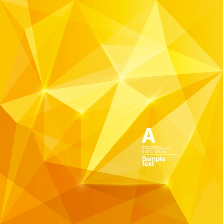 Illustration pour Yellow abstract background - image libre de droit