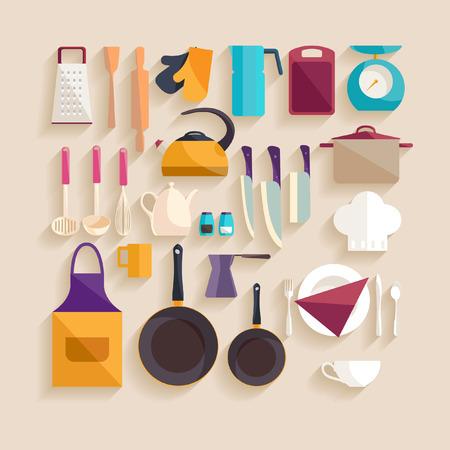 Illustration pour Kitchen workplace. Flat design. - image libre de droit