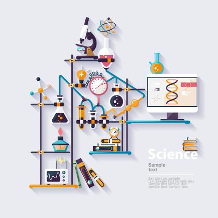 Illustration pour Chemistry infographic. Flat design - image libre de droit