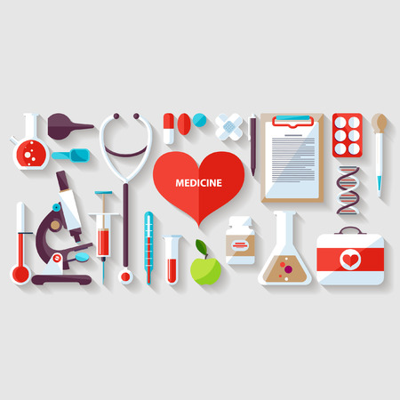 Illustration pour Medical concept. Flat design. - image libre de droit