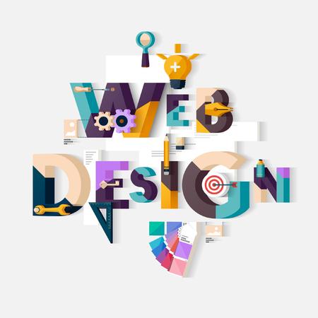 Illustrazione per Web design concept. Flat design. - Immagini Royalty Free