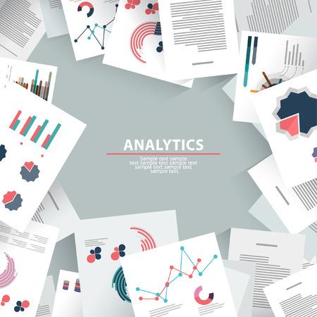 Illustration pour Analysis information and brainstorming. Flat design. - image libre de droit