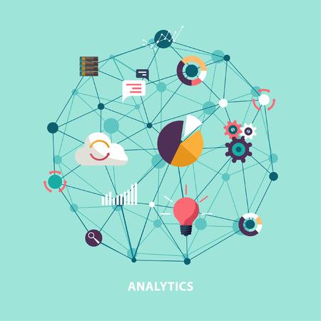 Ilustración de Data analytics. Flat design. - Imagen libre de derechos